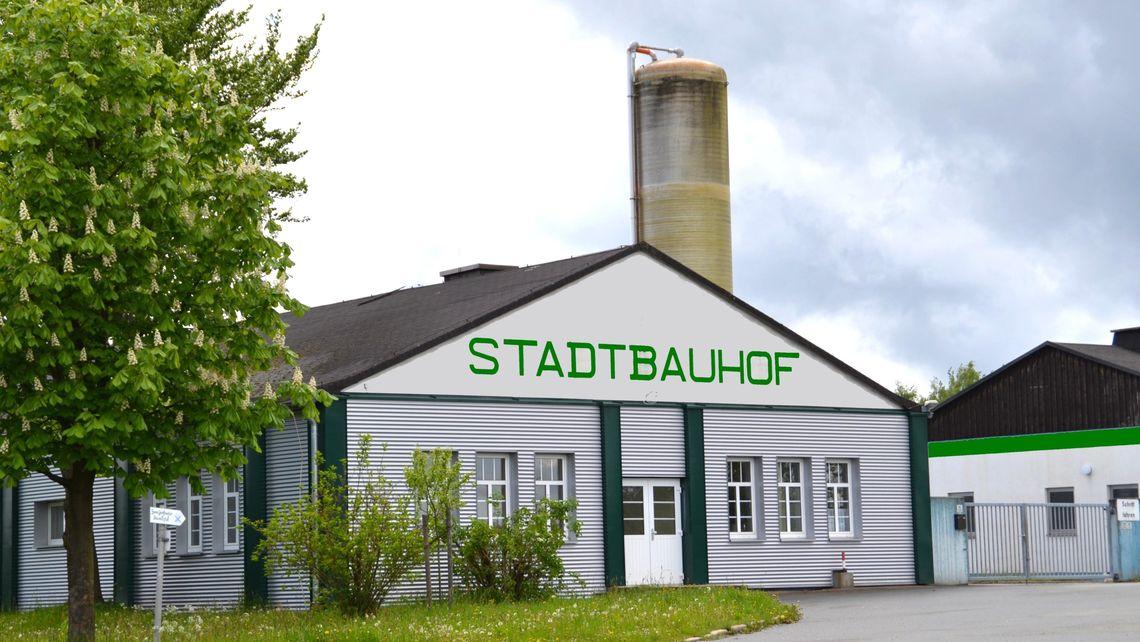 Außenansicht Stadtbauhof Schwarzenbach a.Wald
